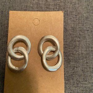 NWT silver earrings